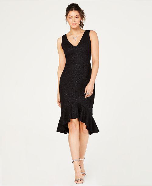 dc2f8b235b6f9 Vince Camuto Flounce-Hem Midi Dress & Reviews - Dresses - Women - Macy's