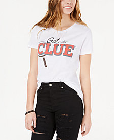 Love Tribe By Hybrid Juniors' Get A Clue Graphic T-Shirt