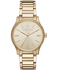 Michael Kors Women's Bailey Gold-Tone Stainless Steel Bracelet Watch 38mm