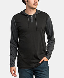 RVCA Men's Pick Up Colorblocked Knit Hooded Sweatshirt