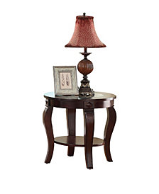 Riley End Table, Glass Top