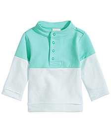 First Impressions Baby Boys Colorblocked Mock-Neck Pullover, Created for Macy's