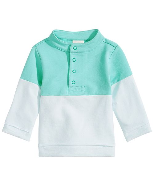 a0d997b06 First Impressions Baby Boys Colorblocked Mock-Neck Pullover, Created for  Macy's