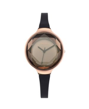 RUMBATIME Rumbatime Orchard Gem Black Diamond Silicone Women'S Watch