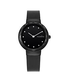Santa Monica Leather Women's Watch Black