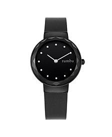 RumbaTime Santa Monica Leather Women's Watch Black