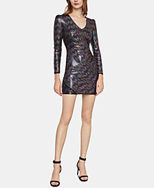 BCBGMAXAZRIA Sequinned Bodycon Dress