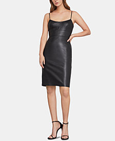 BCBGMAXAZRIA Faux-Leather Sheath Dress