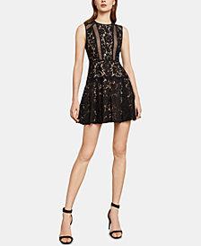 BCBGMAXAZRIA Veda Lace Cutout Dress