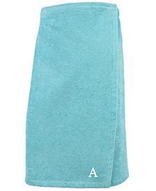 Linum Home 100% Turkish Cotton Terry Personalized Women's Bath Wrap - Aqua