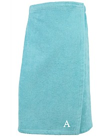 Linum Home 100% Turkish Cotton Terry Personalized Women's Bath Wrap - Aqua