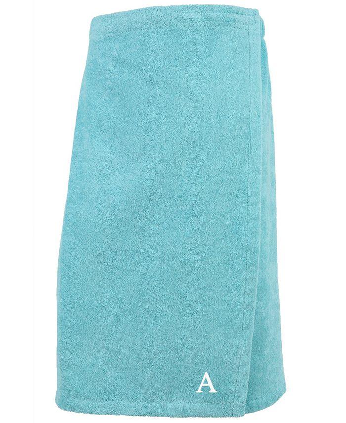 Linum Home - 100% Turkish Cotton Terry Personalized Women's Bath Wrap - Aqua