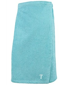100% Turkish Cotton Terry Personalized Women's Bath Wrap - Aqua