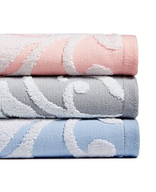 Terry Damask Bath Towel Collection, Created for Macy's, CLOSEOUT!