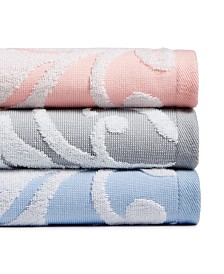 CLOSEOUT! Martha Stewart Collection Terry Damask Bath Towel Collection, Created for Macy's