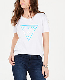 GUESS Cotton Hologram Graphic T-Shirt
