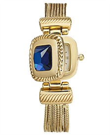 Women's Gold-Tone Blue Stone Multi-Chain Flip Watch 31mm, Created for Macy's