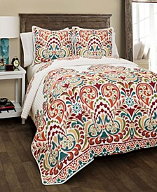 Clara Reversible 3-Piece King Quilt Set