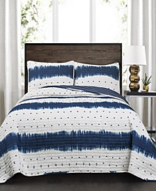 Jane Shibori 3-Pc Set Full/Queen Quilt Set