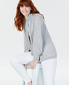 Charter Club Cashmere Blouson-Sleeve Cardigan, Created for Macy's