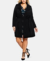 9870b7ea160 City Chic Trendy Plus Size Lace-Up Trench Coat
