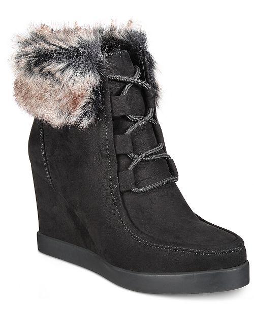7840b23627e Esprit Felice Memory Foam Wedge Booties   Reviews - Boots - Shoes ...