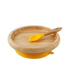 Bamboo Suction Classic Plate and Spoon