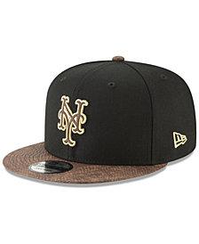 New Era New York Mets Gold Snake 9FIFTY Snapback Cap