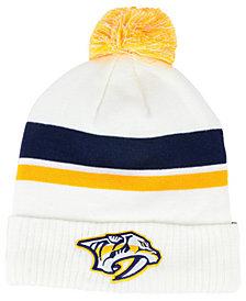 Authentic NHL Headwear Nashville Predators Alternate Jersey Cuffed Pom Knit Hat