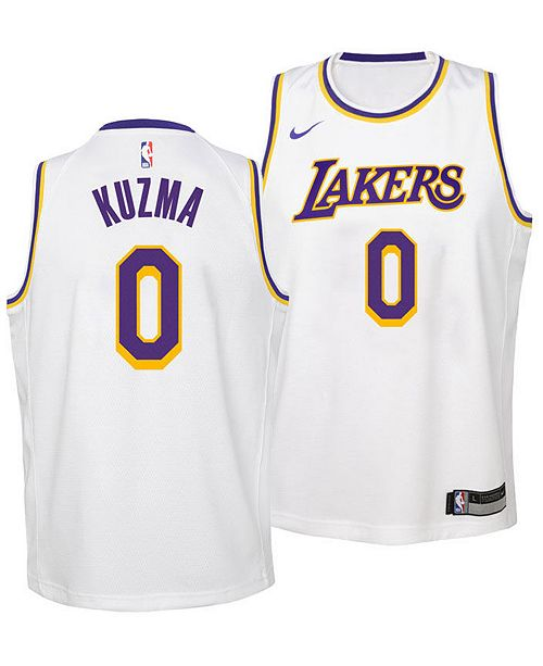 5bb14e723adb ... Nike Kyle Kuzma Los Angeles Lakers Association Swingman Jersey