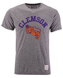 Men's Clemson Tigers Retro Logo Tri-blend T-Shirt