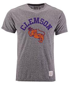 Retro Brand Men's Clemson Tigers Retro Logo Tri-blend T-Shirt