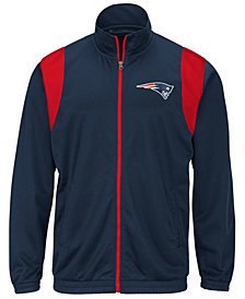 G-III Sports Men's New England Patriots Clutch Time Track Jacket