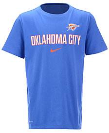 Nike Oklahoma City Thunder NBA Youth Facility T-Shirt, Big Boys (8-20)