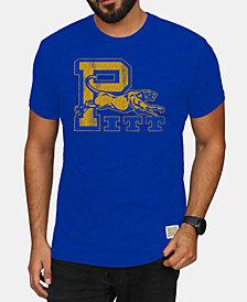 Retro Brand Men's Pittsburgh Panthers Retro Logo Tri-blend T-Shirt