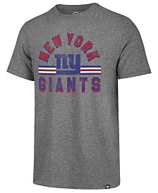 '47 Brand Men's New York Giants Team Stripe Match Tri-blend T-Shirt