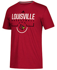 adidas Men's Louisville Cardinals On Court Practice T-Shirt