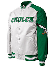G-III Sports Men's Philadelphia Eagles Starter Dugout Championship Satin Jacket