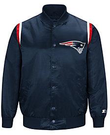 Starter Men's New England Patriots Hat Trick  Varsity Jacket