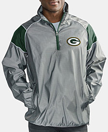 G-III Sports Men's Green Bay Packers Fade Player Lightweight Pullover Jacket