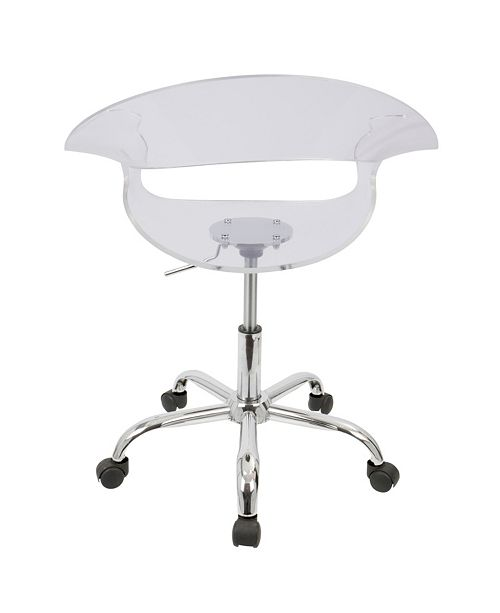 Wondrous Rumor Adjustable Office Chair With Swivel In Clear Acrylic Evergreenethics Interior Chair Design Evergreenethicsorg