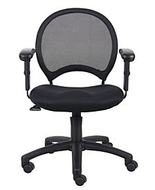 Boss Office Products Mesh Chair With Adjustable Arms