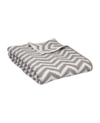 Navy Lolli Living Textiles Chevron Chenille Baby Blanket