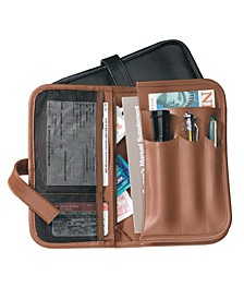 Royce Executive Glove Compartment Organizer in Genuine Leather with Auto Essentials Included