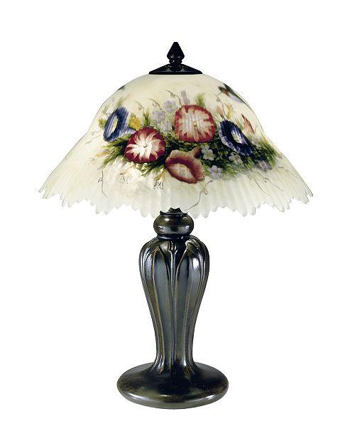 Dale Tiffany Hummingbird Flower Table Lamp