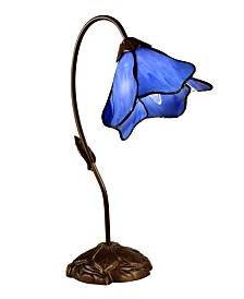 Dale Tiffany Poelking 1-Light Blue Lily Table Lamp