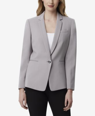 Tahari by ASL Womens Pebble Crepe One-Button Jacket