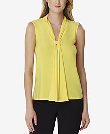 Tahari ASL Double-Sash Knit Blouse