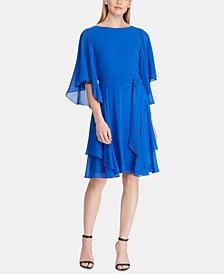 Lauren Ralph Lauren Ruffled Georgette Dress