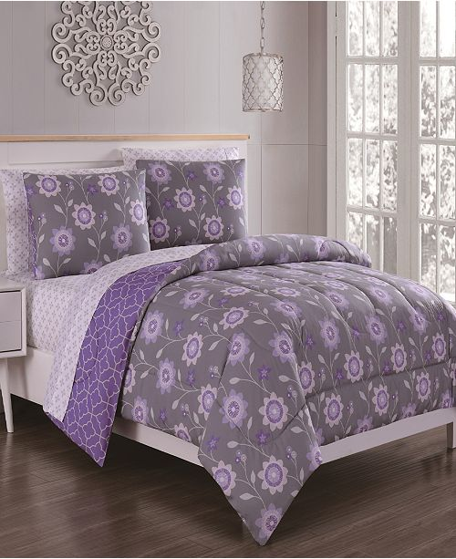 Geneva Home Fashion Britt 7-Pc Queen Bed in a Bag